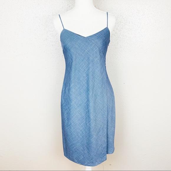 Banana Republic Dresses & Skirts - Banana Republic Cross Hatch Faux Wrap Dress 00P